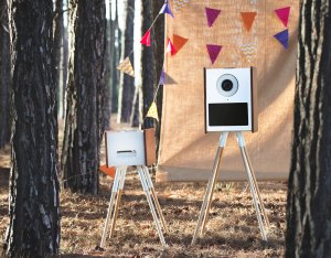 The Retro Booth is perfectly styled into a Boho themed event